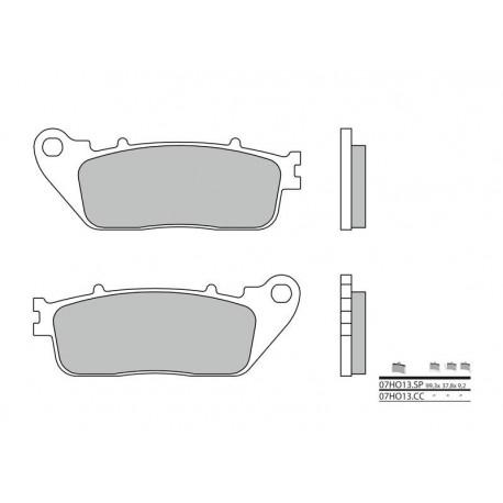 07HO13CC : Plaquettes arrière Brembo (ABS) CB1000R