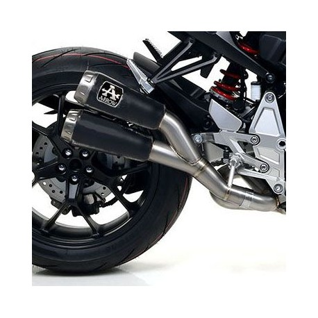 71885PRN : Silencieux Arrow Double Pro-Race Dark 2018 CB1000R