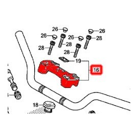 53130-MFN-D60 : Pontet de Guidon d'origine Honda CB1000R