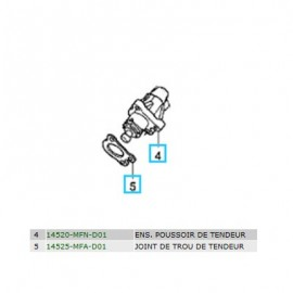 14520-MFN-D01 + 14525-MFA-D01 : Tendeur de chaîne de distribution CB1000R
