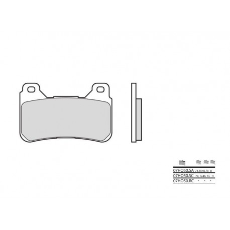 07HO50 : Brembo front brake pads (no abs) CB1000R