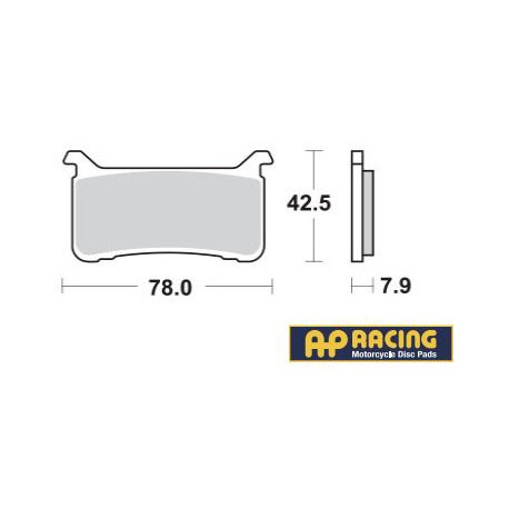 LMP547SF : AP racing front brake pads CB1000R