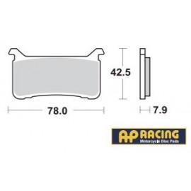 LMP547SFP : Plaquettes avant AP Racing ABS CB1000R